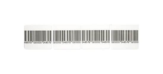 Etiquette antivol RF codebarre 4x4